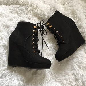 Forever 21 Lace Up Wedges